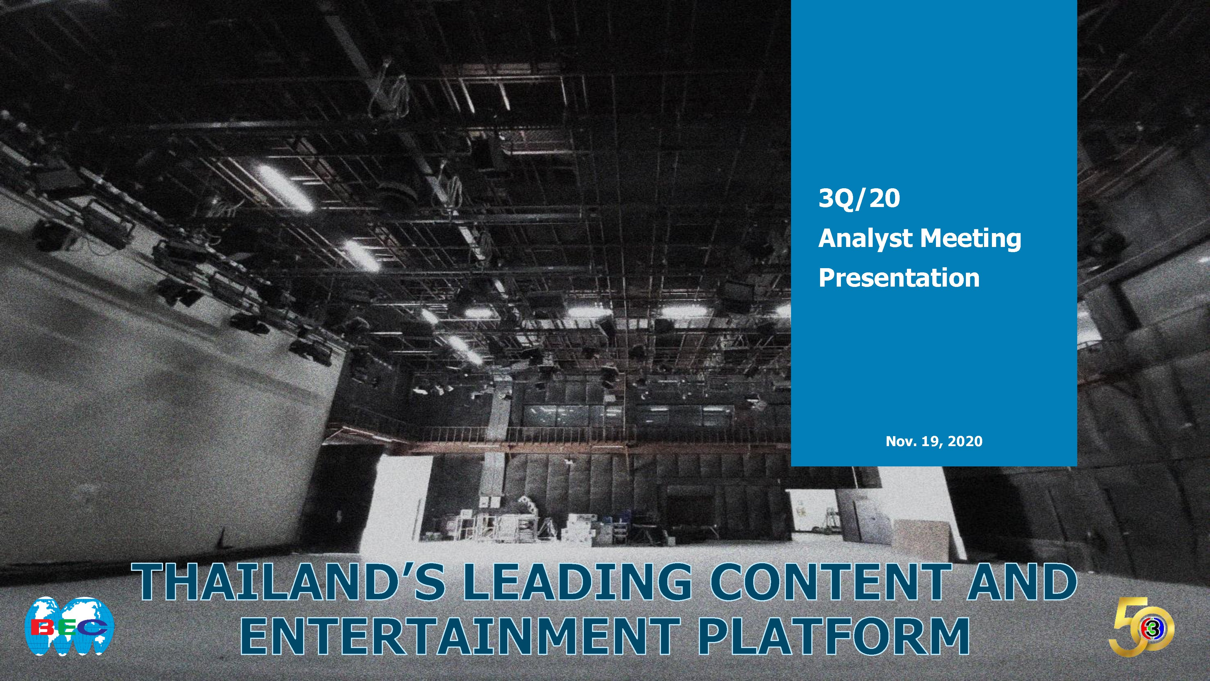 3Q/20 Analyst Meeting Presentation