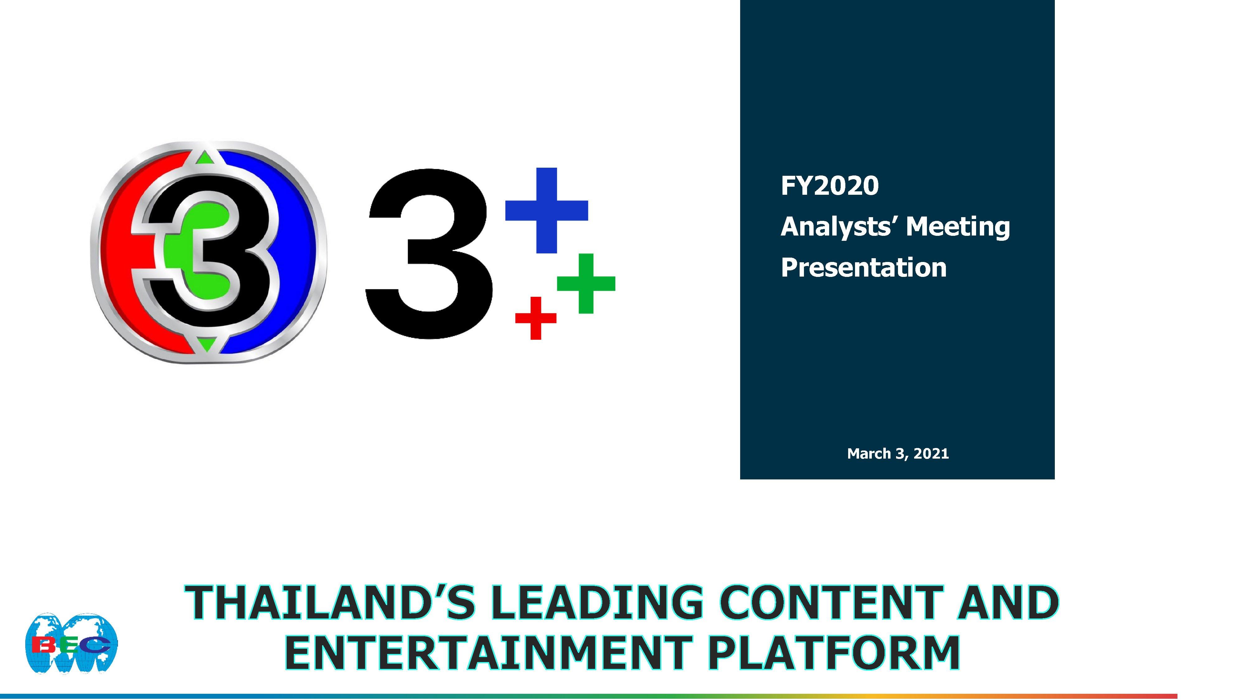 FY20 Analyst Meeting Presentation