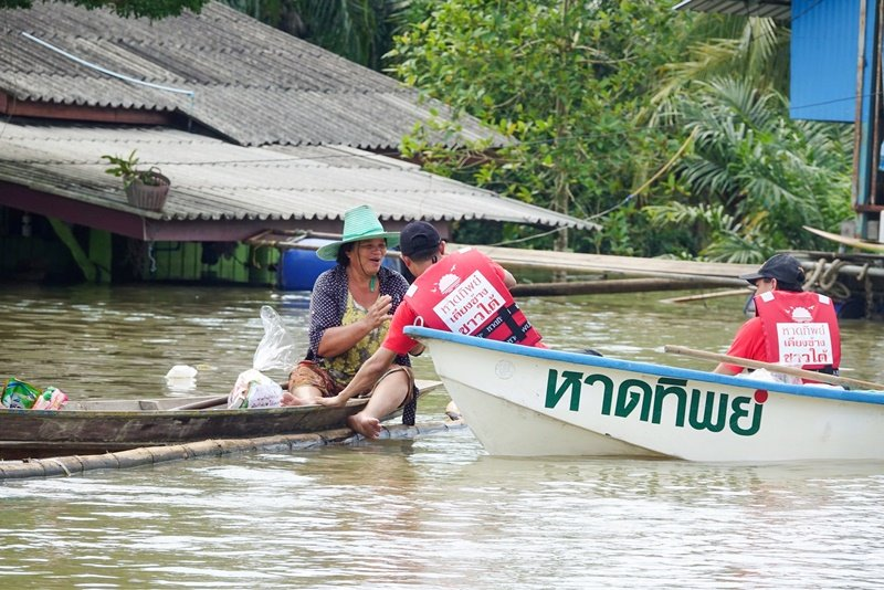 หาดทิพย์ เคียงข้างชาวใต้ สู้อุทกภัยน้ำท่วม ปี 2563