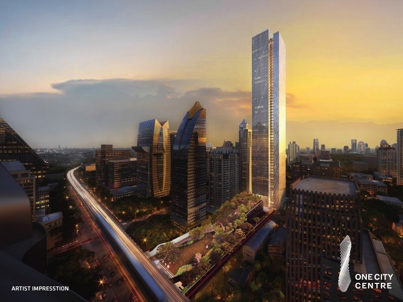 """Raimon Land Flags """"One City Centre"""" A new landmark for rental office in the golden location of Ploenjit Revenue recognition at the beginning of 2022, amounting 1,000 million baht on average per year"""