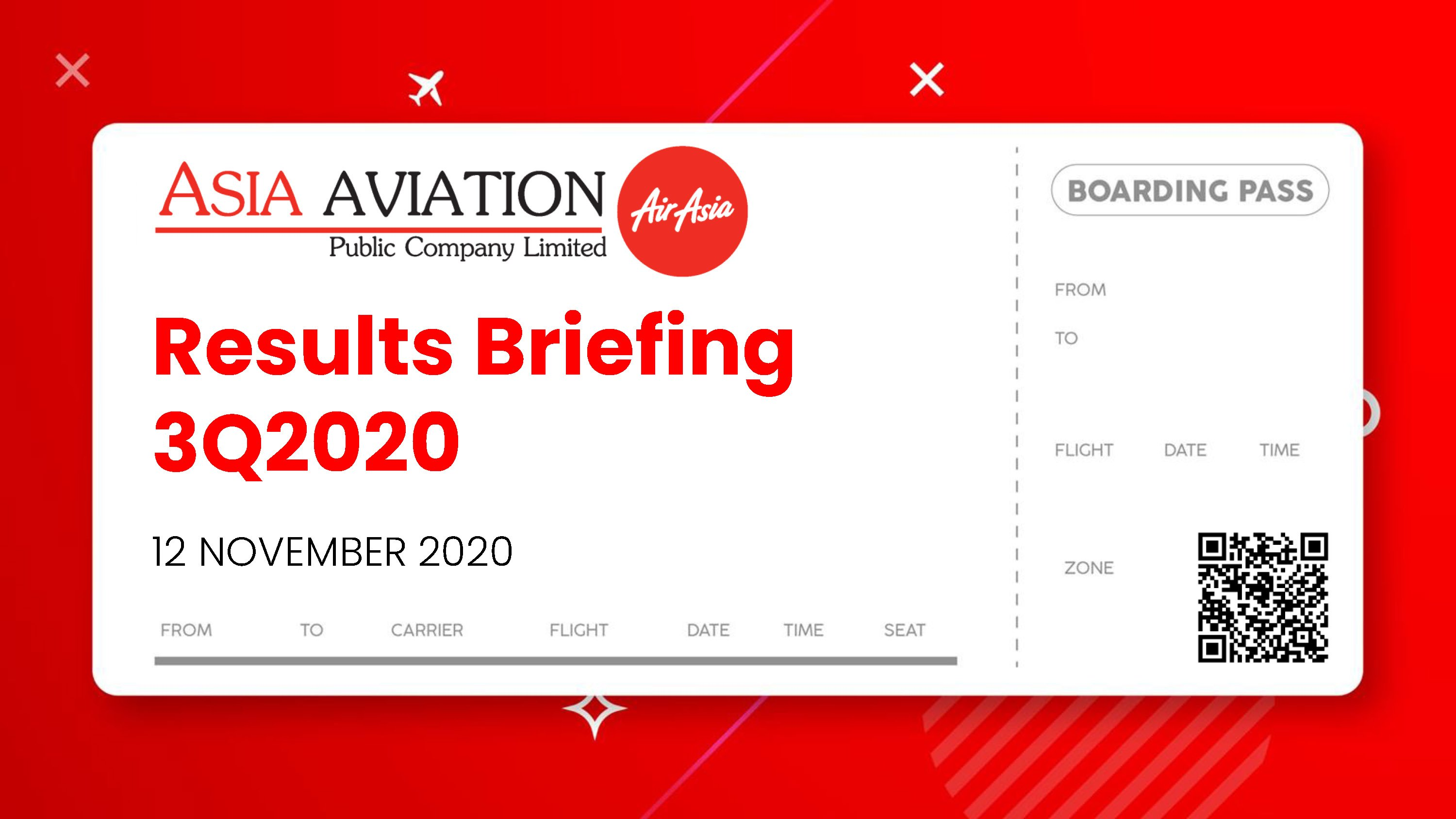 RESULTS BRIEFING Q3/2020