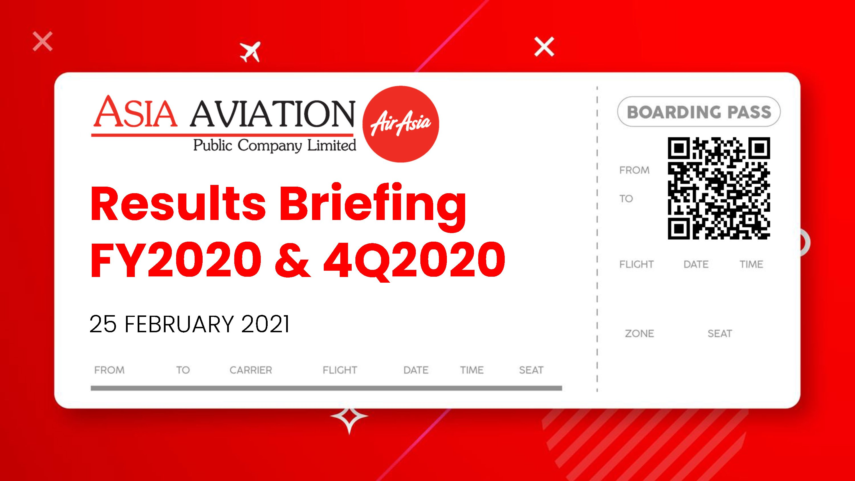 RESULTS BRIEFING FY2020