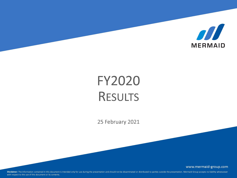 Mermaid Results Presentation FY 2020
