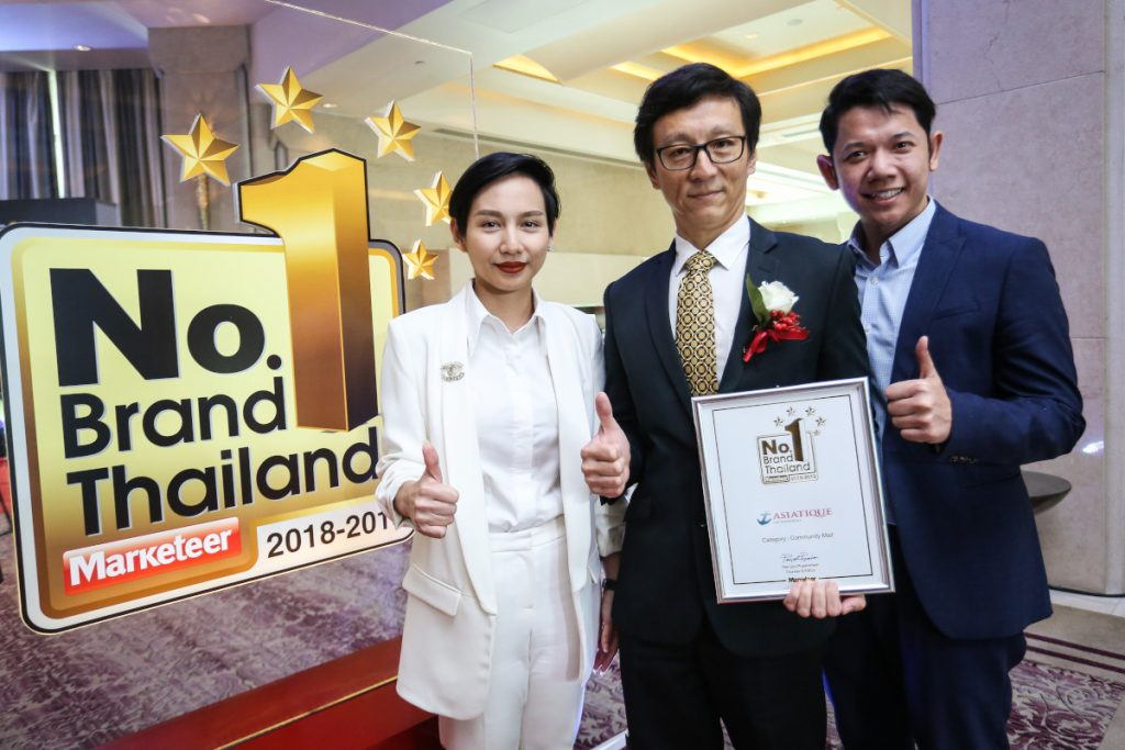 Asiatique The Riverfront scoops Award as The No.1 Community Mall in Thailand.