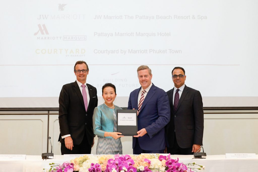 Asset World Corporation signs multi-agreement with Marriott International to launch 2 hotels in mega scale mixed-use destination in Pattaya and 1 upper-scale hotel in Phuket bringing three iconic brands to Thailand