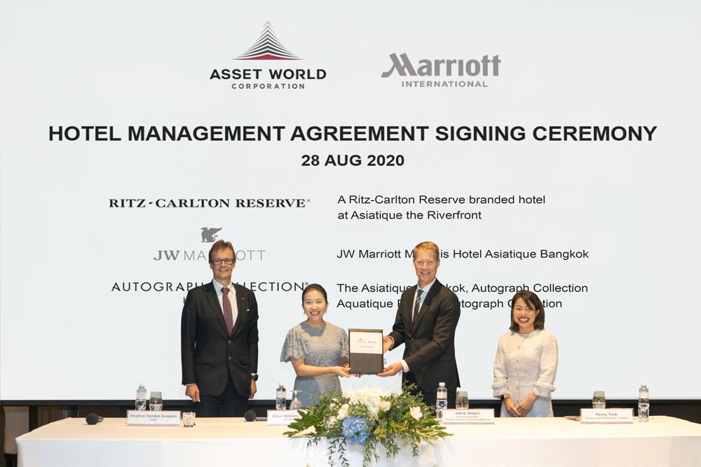 Asset World Corporation signs new landmark multi-agreement with Marriott International