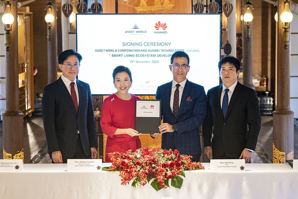 AWC and Huawei sign MOU for comprehensive smart living ecosystem development marking the next chapter of building a better future for Thai real estate sector