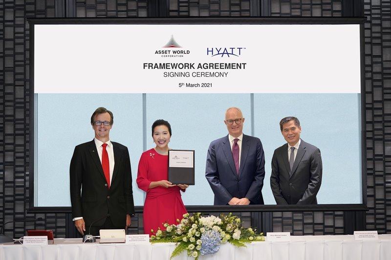 Asset World Corporation and Hyatt sign Framework Agreement to develop hotels with more than 1,000 keys under various Hyatt brands in Thailand