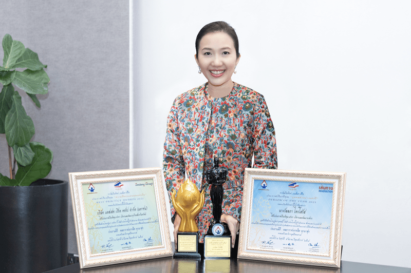 Wallapa Traisorat, Chief Executive Officer and President of Asset World Corporation, has been honored 'Person of the Year 2021'